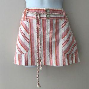 Guess white/Orange/light red stripe skirt. Size 27